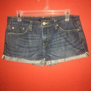 Levi's 513 Boyfriend Size 5 Cut off Jean Shorts